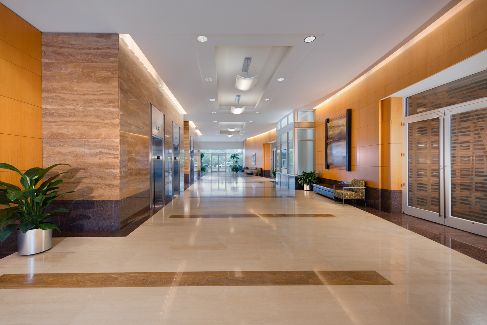 The lobby is the space at the entrance to the building. Synonymous names 93