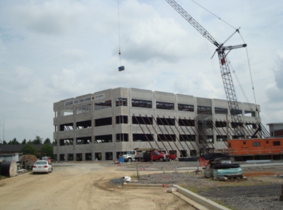 Building under construction at Annapolis Junction Town Center in Howard County