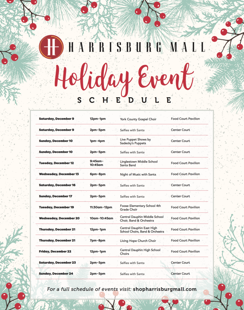 Harrisburg Mall Announces Holiday Events and Seasonal Retailers - St ...