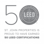 More than 50 St. John Properties Building have been LEED Certified by the U.S. Green Building Council