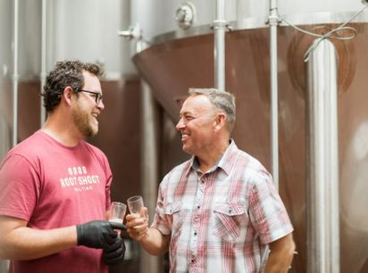 Cousins Zac Rissmiller (left) and Mike McKelvin are expanding the brewery from suburban Colorado to suburban Maryland.