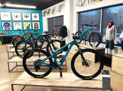Mountain bikes on display in Yeti Cycles' showroom in Golden at 621 Corporate Drive. The showroom space will be expanded as Yeti nearly doubles the space of its Golden facility following the purchase of a second building in the Corporate Center. PAUL ALBANI-BURGIO