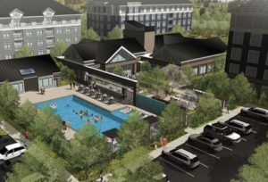 A rendering of the Mansions at Melford Town Center project in Bowie.