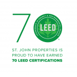 St. John Properties Achieves 70 LEED Certified Buildings