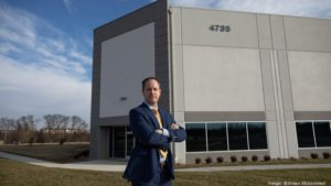 Matt Holbrook shows off a St. John Properties site along Arcadia Drive in Frederick.