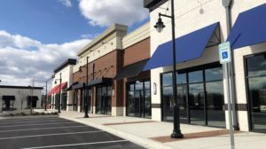 Among several new office, flex, or industrial properties in the works by St. John Properties is a retail project built on spec at Greenleigh in Middle River. The 13,000-square-foot development was completed late last year and is now awaiting tenants. MELODY SIMMONS