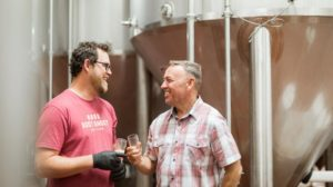 Cousins Zac Rissmiller (left) and Mike McKelvin are expanding the brewery in Carroll County to make more beer for new distribution deals in the mid-Atlantic. 1623 BREWING CO.