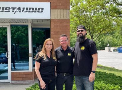 Just Audio's Monica Panzer, John Panzer and Lenny Florentine